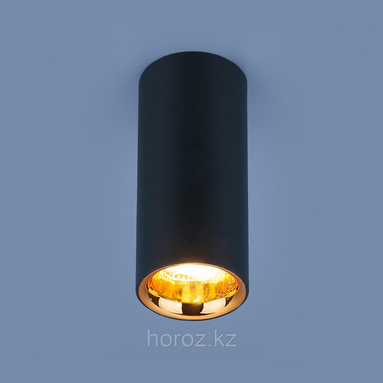 Накладной потолочный светодиодный светильник черный матовый/золото