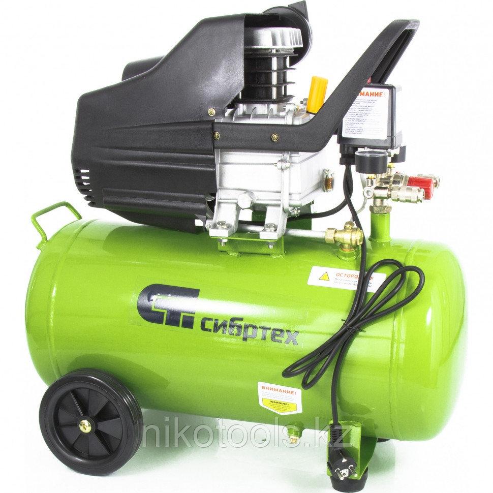 Компрессор воздушный КК-1500/50,1,5 кВт, 198 л/мин, 50 л, прямой привод, масляный. СИБРТЕХ