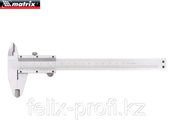 Штангенциркуль, 250 мм, цена деления 0,02 мм, металлический, с глубиномером// Matrix
