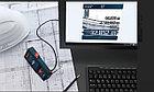 Лазерный дальномер (120 м) Bosch GLM 120 C Professional + BT150., фото 4