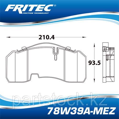 Колодки тормозные дисковые керамические на / для BPW, БПВ, FRITEC 78W39A-MEZ