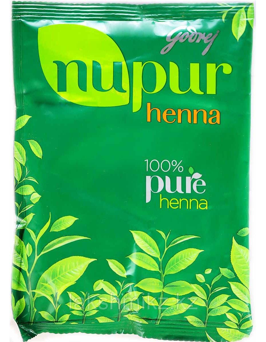 Хна для волос натуральная, 120 г, производитель Нупур; Henna 100% Pure, 120 g, Nupur