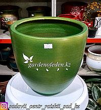 Керамический горшок для цветов. Объем: 5л. Цвет: Зеленый.