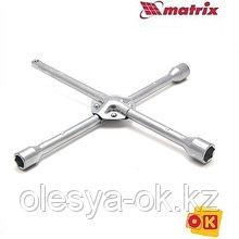 Ключ-крест баллонный, 17 х 19 х 21 мм, под квадрат 1/2, усиленный, толщина 16 мм. MATRIX PROFESSIONAL