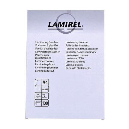 Пленка для ламинирования Fellowes Lamirel А4, 75 мкм, 100 шт., фото 2