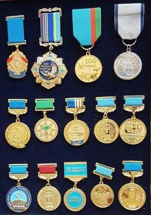 Медаль на колодке, ордена