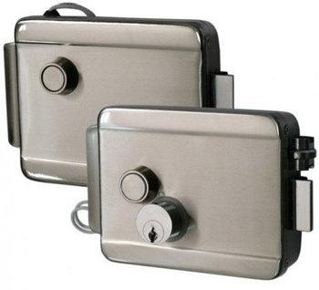 Электромеханический замок Smartec ST-RL073DI-SS, накладной, нерж. сталь, блокировка кнопки