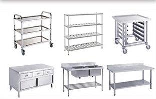 Нейтральное оборудование (столы, стеллажи, ванны моечные и раковины)