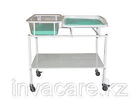 Кровать для новорожденных с пеленальным столиком КНПС-«Ока-Медик»