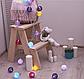Гирлянда «Нить», 5 м, с насадками «клубки цветных ниток» (6 см), 20 LED, 220 В, фиксинг, свечение белое , фото 3