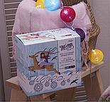 Гирлянда «Нить», 5 м, с насадками «клубки цветных ниток» (6 см), 20 LED, 220 В, фиксинг, свечение белое , фото 4