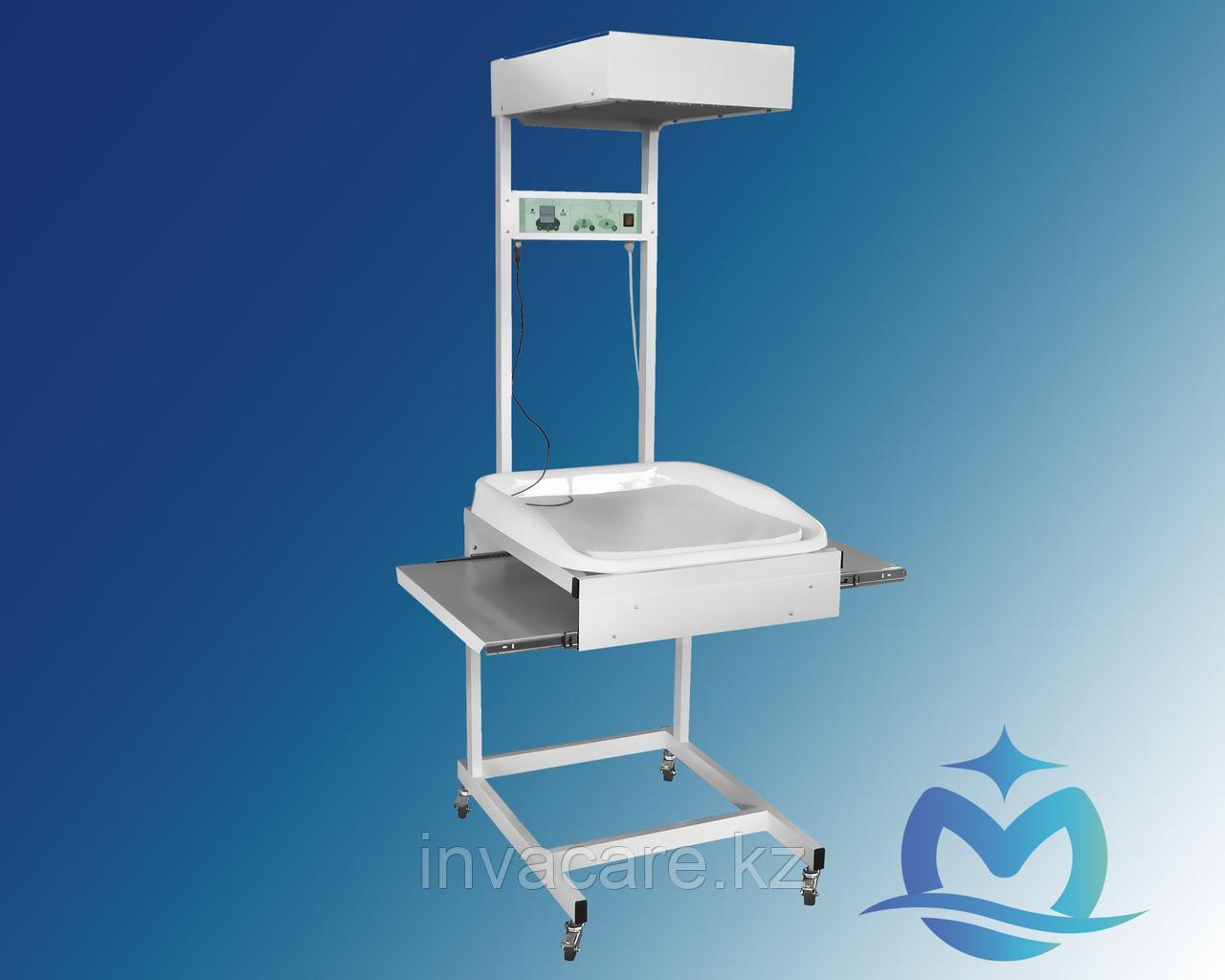Стол санитарный с обогревом по уходу за новорожденным СН- «Ока-Медик»