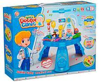 Немного помятая!!! 312-1  Стойка мед набор Baby Doctor Clinic  синяя