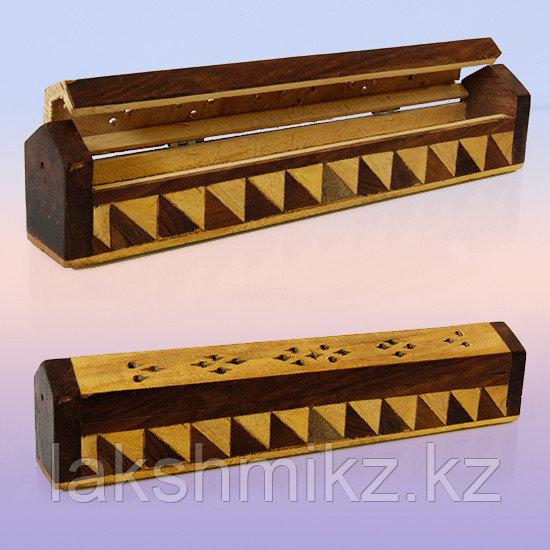 Подставка под благовония  пенал резное деревo 25cm-4cm-5cm