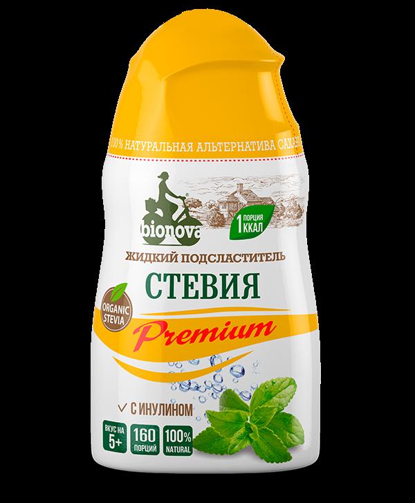 Жидкий сахарозаменитель Стевия Premium с инулином Bionova 80гр