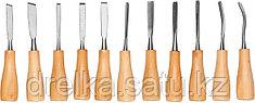"""Набор DEXX: Стамески фигурные """"МИНИ"""" с деревянной ручкой, 11шт"""