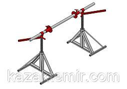 Винтовой кабельный домкрат для подъёма и размотки кабельных барабанов ДКВ 10-1,5