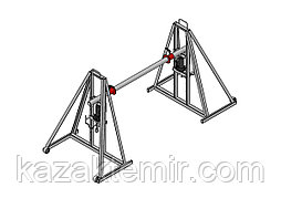 Гидравлический кабельный домкрат для подъёма и размотки кабельных барабанов ДКГ 16-2
