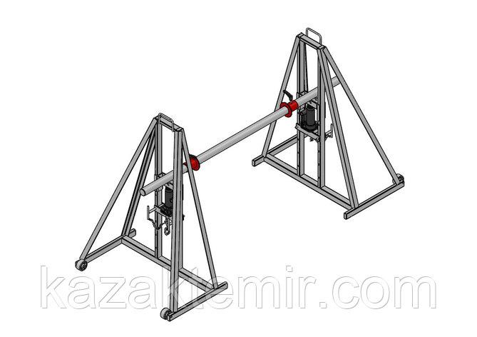 Гидравлический кабельный домкрат для подъёма и размотки кабельных барабанов ДКГ 18-3, фото 2