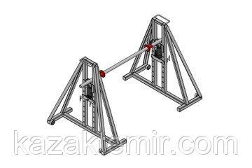 Гидравлический кабельный домкрат для подъёма и размотки кабельных барабанов ДКГ 22-5