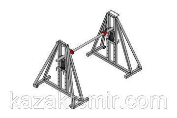 Гидравлический кабельный домкрат для подъёма и размотки кабельных барабанов ДКГ 22-5, фото 2