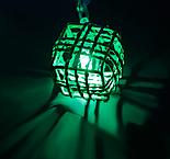 "Гирлянда ""Метраж"" 5 м с насад. ""Кубик Проволока"",2,8 см Н.С. LED-20-220V, контр 8р, МУЛЬТИ , фото 2"
