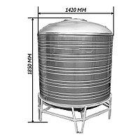 Емкость 2,0м куб-- 2000л-- для воды-- из нержавейки