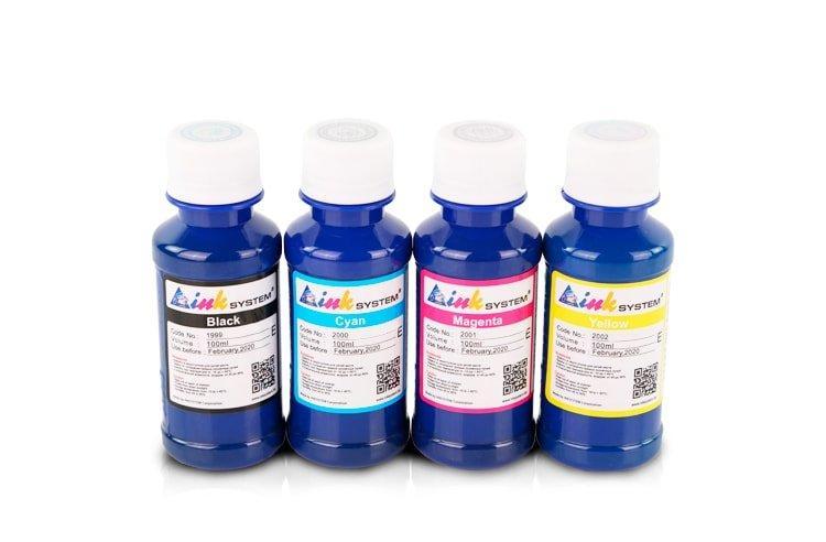 Комплект пигментных чернил INKSYSTEM для мелованной бумаги (Art-ink) 100 мл (4 цвета)