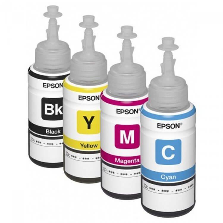 Оригинальные чернила для Epson L605 (70 мл, 4 цвета)