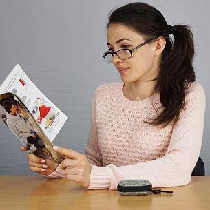 Складные очки +2,5 диоптрий с чехлом, фото 2