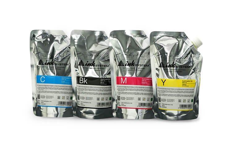 Комплект сублимационных чернил INKSYSTEM 500 мл (4 цвета)