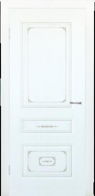 Дверь DL510ДГ, цвет Белое дерево золото