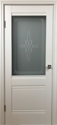 Дверь DL305ДО, цвет Белая эмаль