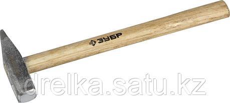 Молоток слесарный 400 г с деревянной рукояткой, тип МСЛ, ЗУБР Мастер, фото 2