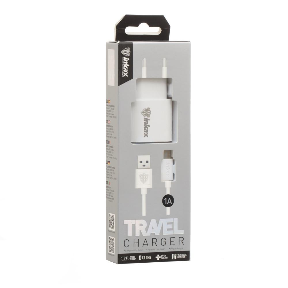 Зарядное устройство INKAX CD-08 Type-C USB 1A