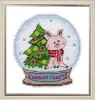 """Набор для вышивания крестом """"Снежный шар"""""""