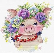 Вышивка с символом года Свиньи