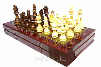 Шахматы 3в 1 (380мм х 380 мм)