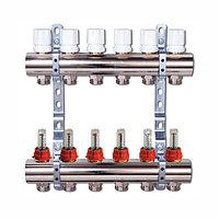 Коллектор отопления Люксор с расходомерами 5 контуров