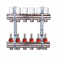 Коллектор отопления Люксор с расходомерами 9 контуров