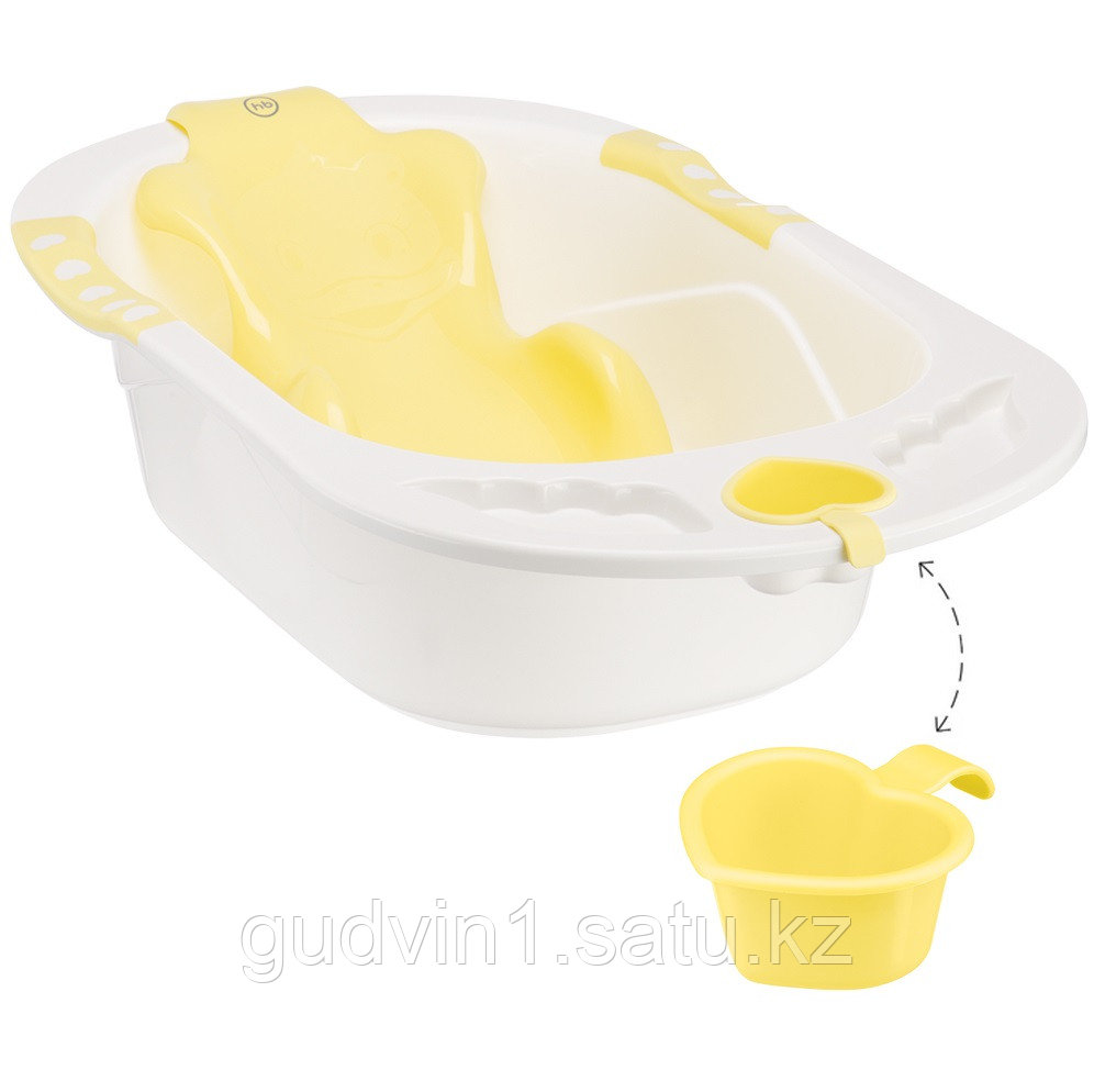Ванна Happy baby с анатомической горкой Bath comfort Yellow 00-76087