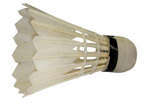 Воланы для бадминтона с натуральной перьевой юбкой -- 12 шт., фото 2