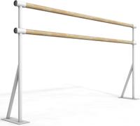 Балетный напольный двухрядный станок 1м