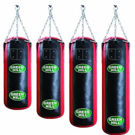 Боксерский мешок GREEN HILL оригинал кожа 100 см / 30 см