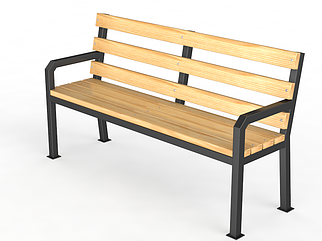 """Уличная скамейка со спинкой. """"Дача"""""""