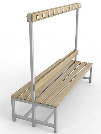 Скамейка для раздевалки с вешалкой, двухсторонняя, фото 2