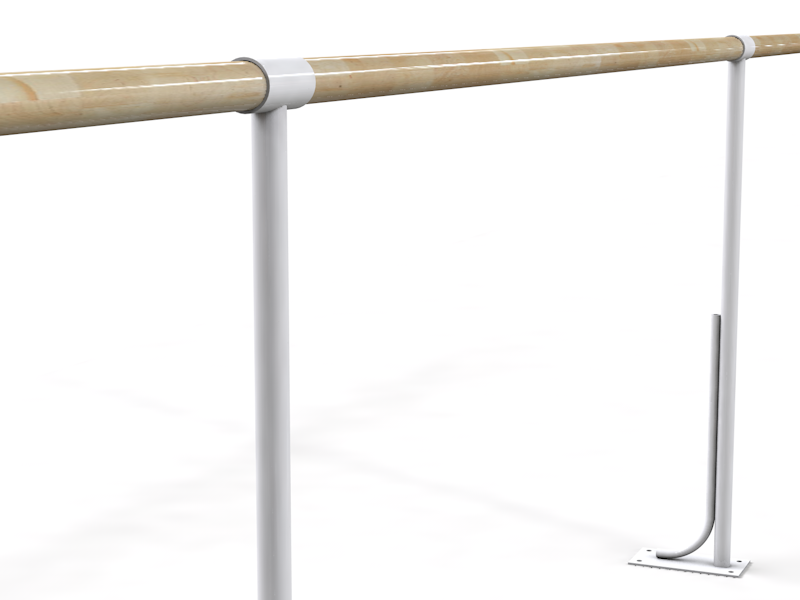 Балетный напольный однорядный  станок  3м