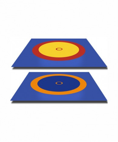 Покрышка для борцовского ковра трехцветный 12м х 12 м (новый образец)