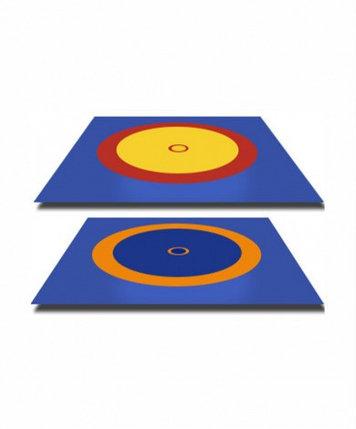 Покрышка для борцовского ковра трехцветный 12м х 12 м (новый образец), фото 2