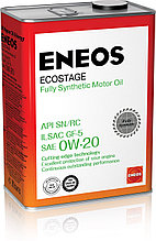 Моторное масло ENEOS ECOSTAGE 0w-20 Synthetic (100%) 4 л